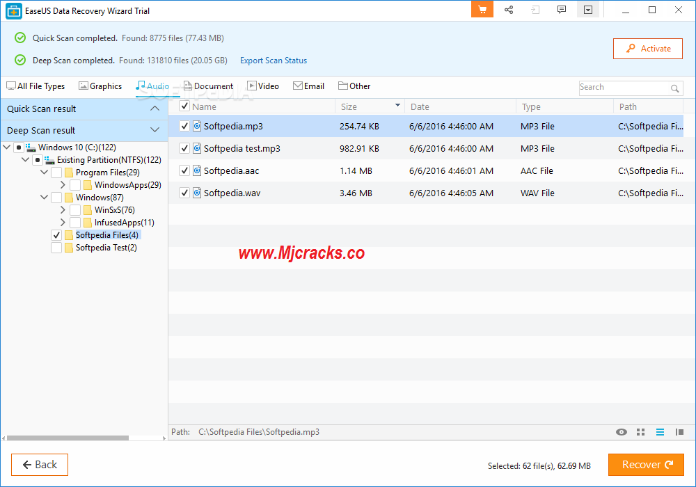 easeus data recovery wizard crack for pc