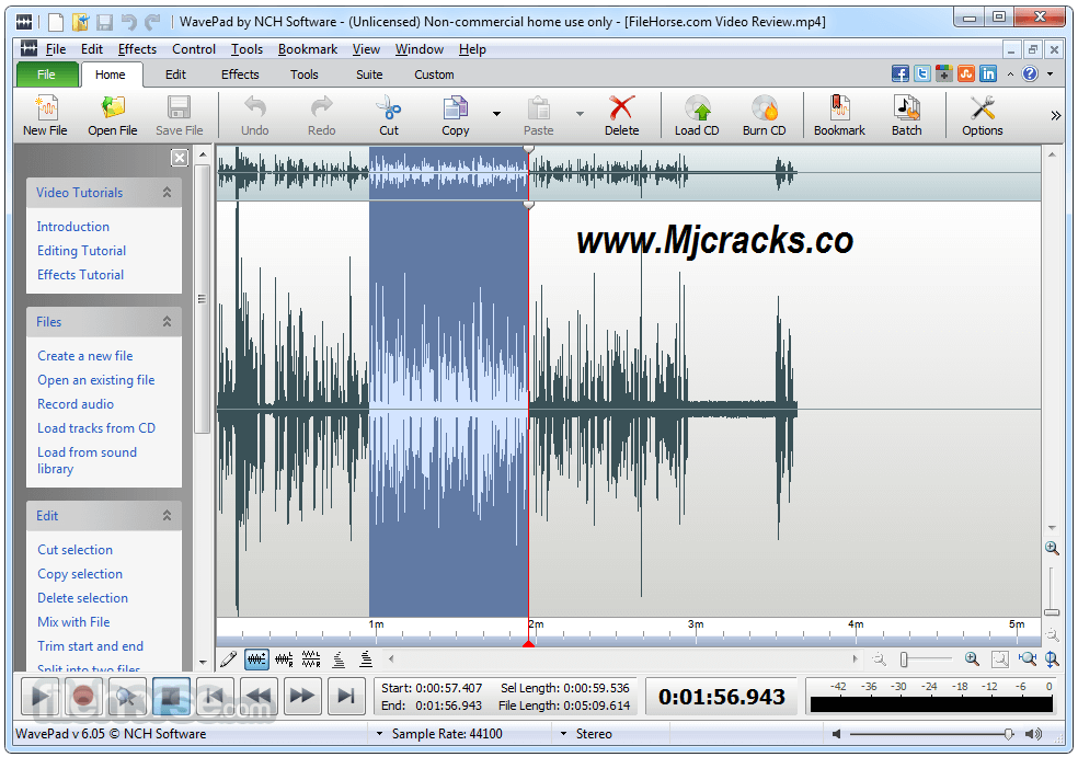 WavePad Sound Editor 9.04 Crack With License Key 2019 Download