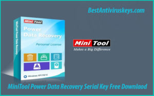 MiniTool Power Data Recovery 8.8 Crack Plus Serial Key Free Download