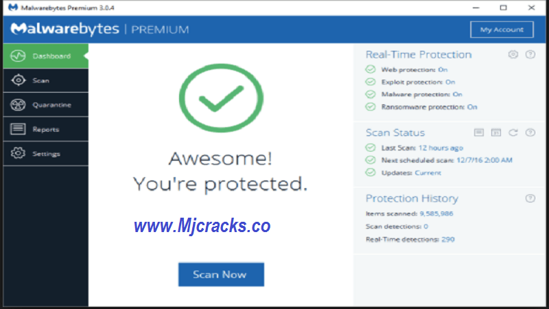 Malwarebytes 3.7.1.2839 Premium Key & Crack Keygen 2019 Download