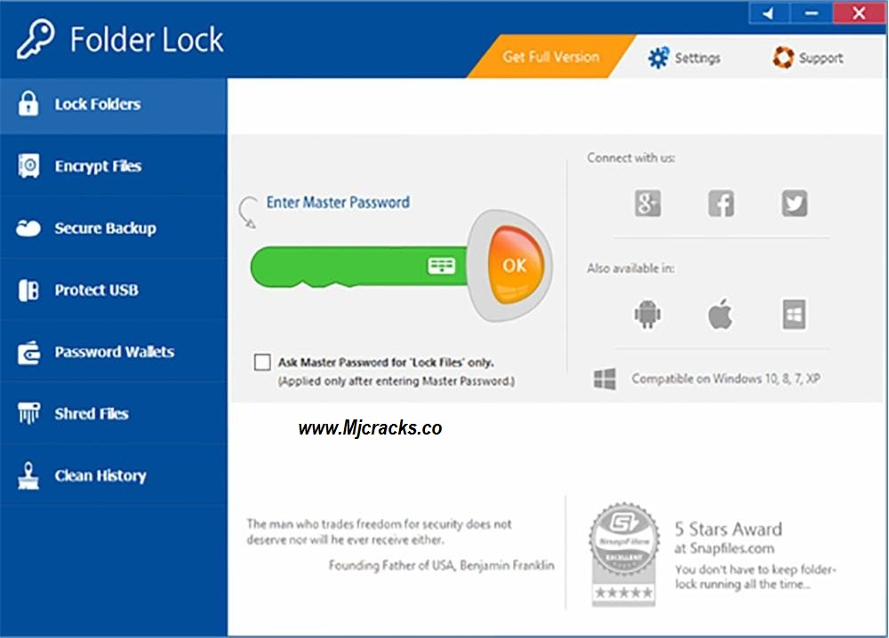 Folder Lock 7.7.9 Crack & License Key Free Download 2019