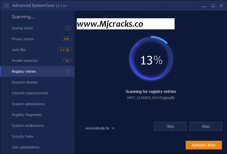 Advanced SystemCare 12.4.0 Crack + Serial Key 2019 [Lifetime]
