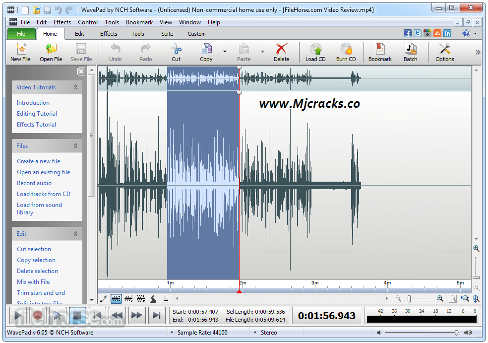 WavePad Sound Editor 9.14 Crack With License Key Download [Latest]