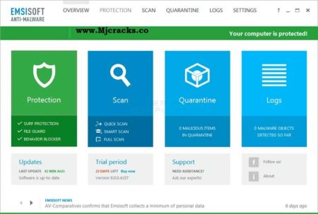 Emsisoft Anti-Malware 2021.3.0.10726 Crack + Product Key [Latest]