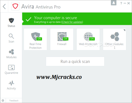 Avira Antivirus Pro 2021 v15.0.2101.2070 Crack Plus License Key